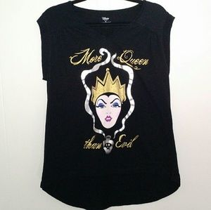 Disney - More Queen Than Evil Black Graphic Tee